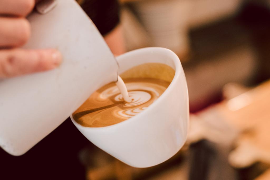 Plant-based milk in coffee